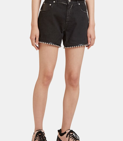 Ball Chain Studded Denim Shorts by Alyx