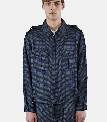 Geometric Jacquard Collared Jacket by Lanvin