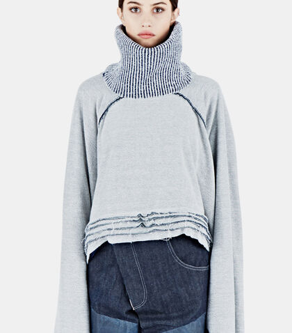 Raglan Fisher Layered Sweater by Hannah Jinkins