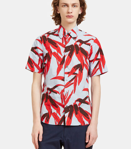 Whisper Botanic Print Crumpled Shirt by Marni