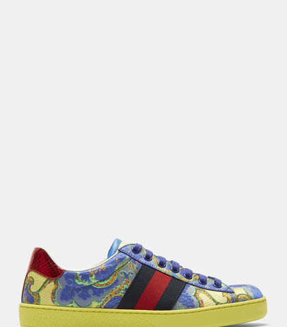 Metallic Jacquard Sneakers by Gucci