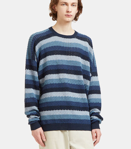 Oversized Striped Crew Neck Knit Sweater by E.Tautz