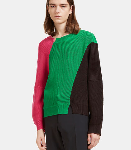 Colour-Blocked Thick Ribbed Knit Sweater by J.W. Anderson