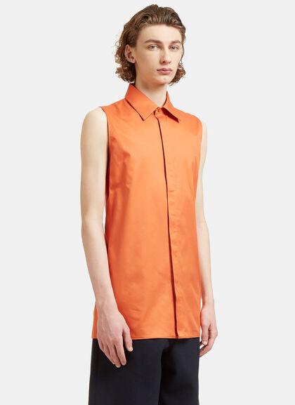 Buy Dalby Long Sleeveless Bi-Colour Shirt by Acne Studios men clothes online
