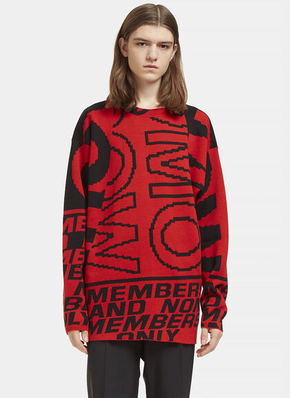 Buy Graphic Intarsia Crew Neck Sweater by Stella McCartney men clothes online