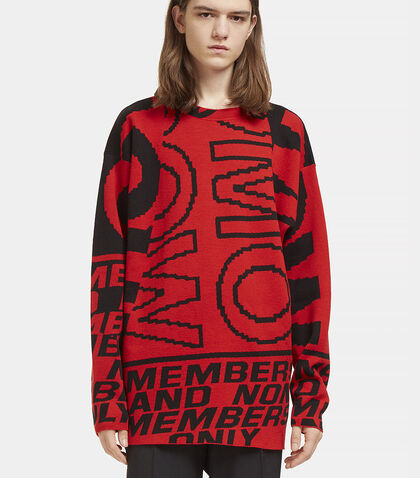 Graphic Intarsia Crew Neck Sweater by Stella McCartney