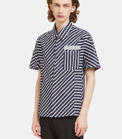 Mixed Stripe Short Sleeved Shirt by Lanvin