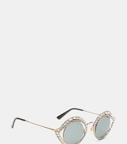 Crystal Cat Eye Sunglasses by Gucci