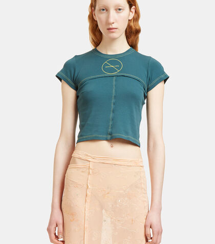 Lapped Cropped T-Shirt by Eckhaus Latta