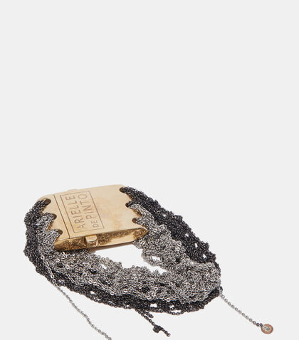 Split Band Square Clasp Bracelet by Arielle De Pinto