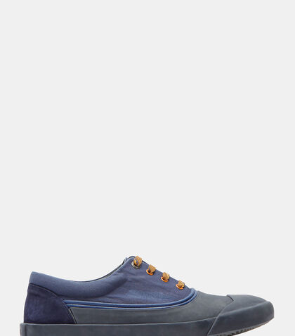 Stone-Washed Canvas Oxford Sneakers by Lanvin