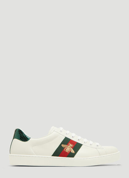 Buy Ace Bee Embroidered Sneakers by Gucci men clothes online