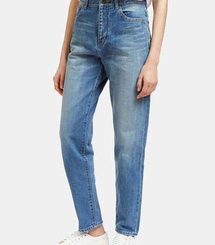 Straight Leg Jeans by Saint Laurent