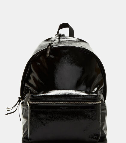 Classic City Patent Leather Backpack by Saint Laurent