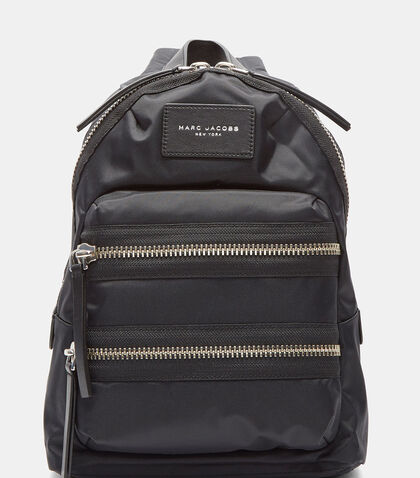Mini Biker Double Zipped Backpack in Black by Marc Jacobs