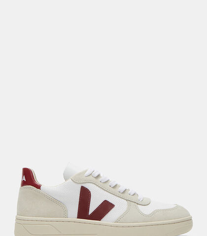 V-10 Mid-Top Canvas and Suede Panelled Sneakers by Veja