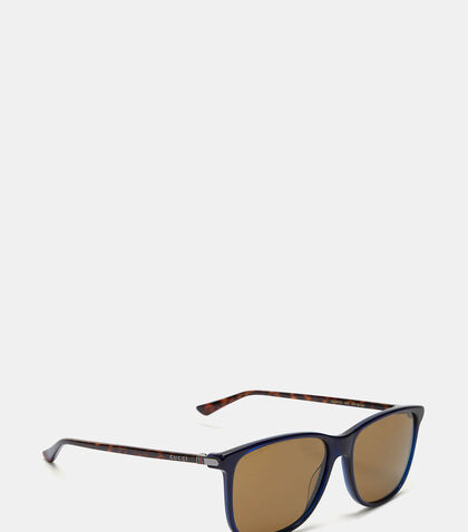 Contrast Arm Squared Sunglasses by Gucci