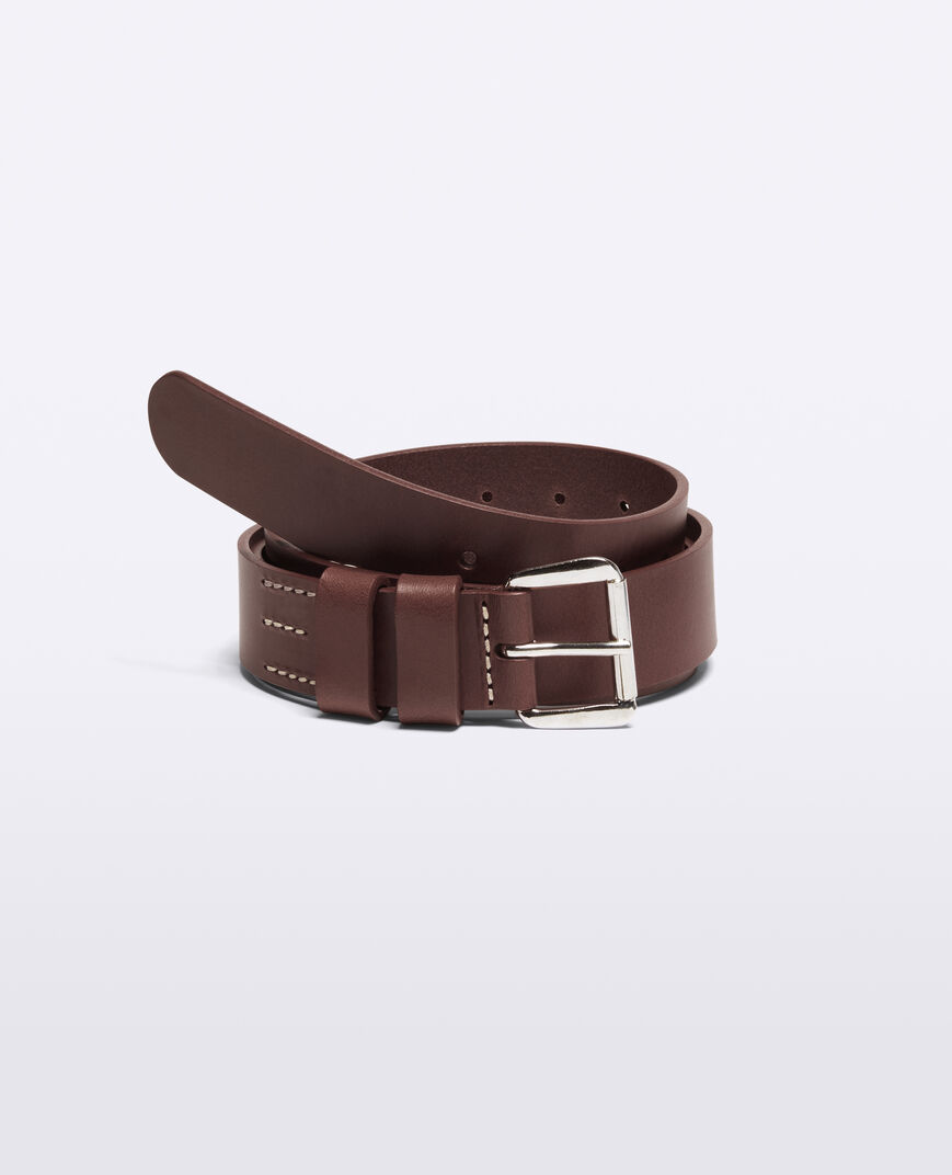 Aspesi Leather Belt In Brown
