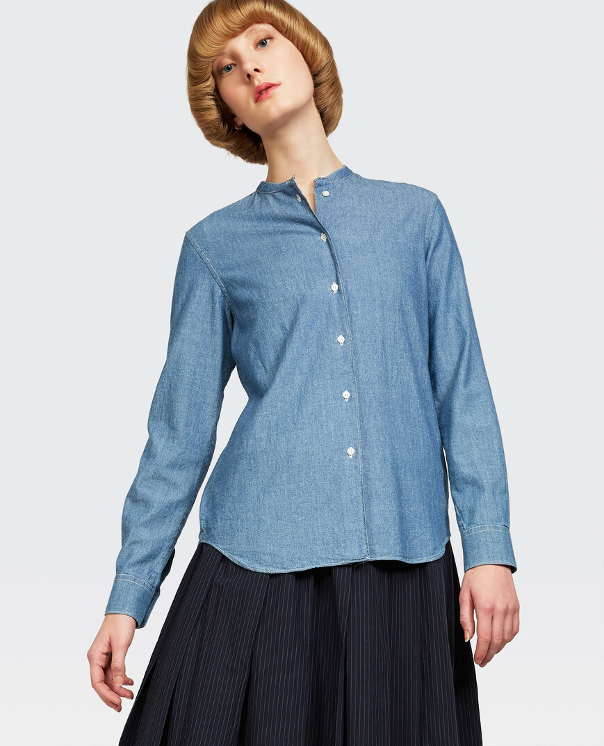Aspesi CLASSIC SHIRT IN JAPANESE CHAMBRAY COTTON