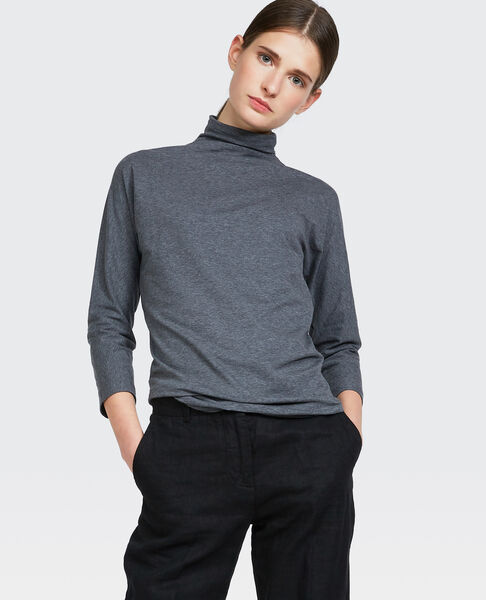 Image of 3/4 sleeve turtleneck