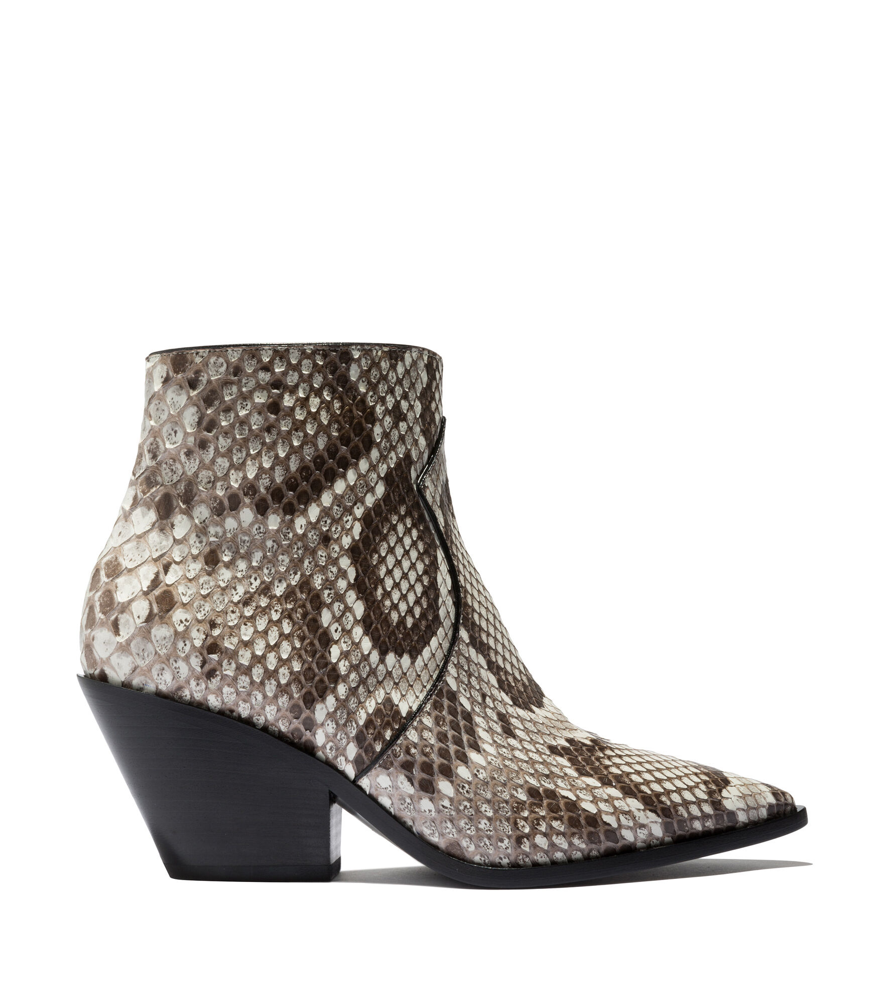 Casadei Ankle Boots - West Black and stone Python