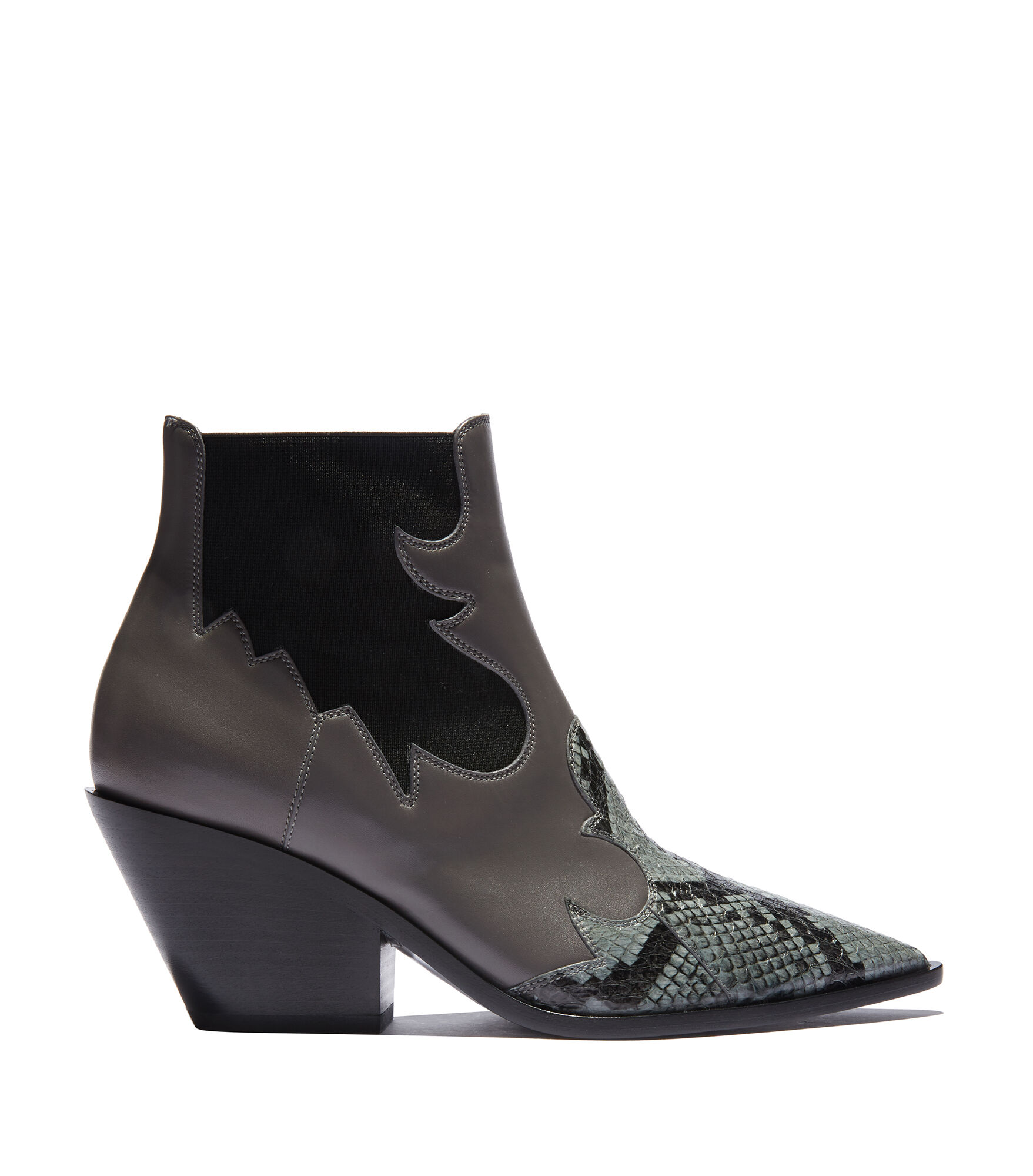 Casadei Ankle Boots - Hazzard Sharkskin Calf Leather and ayers