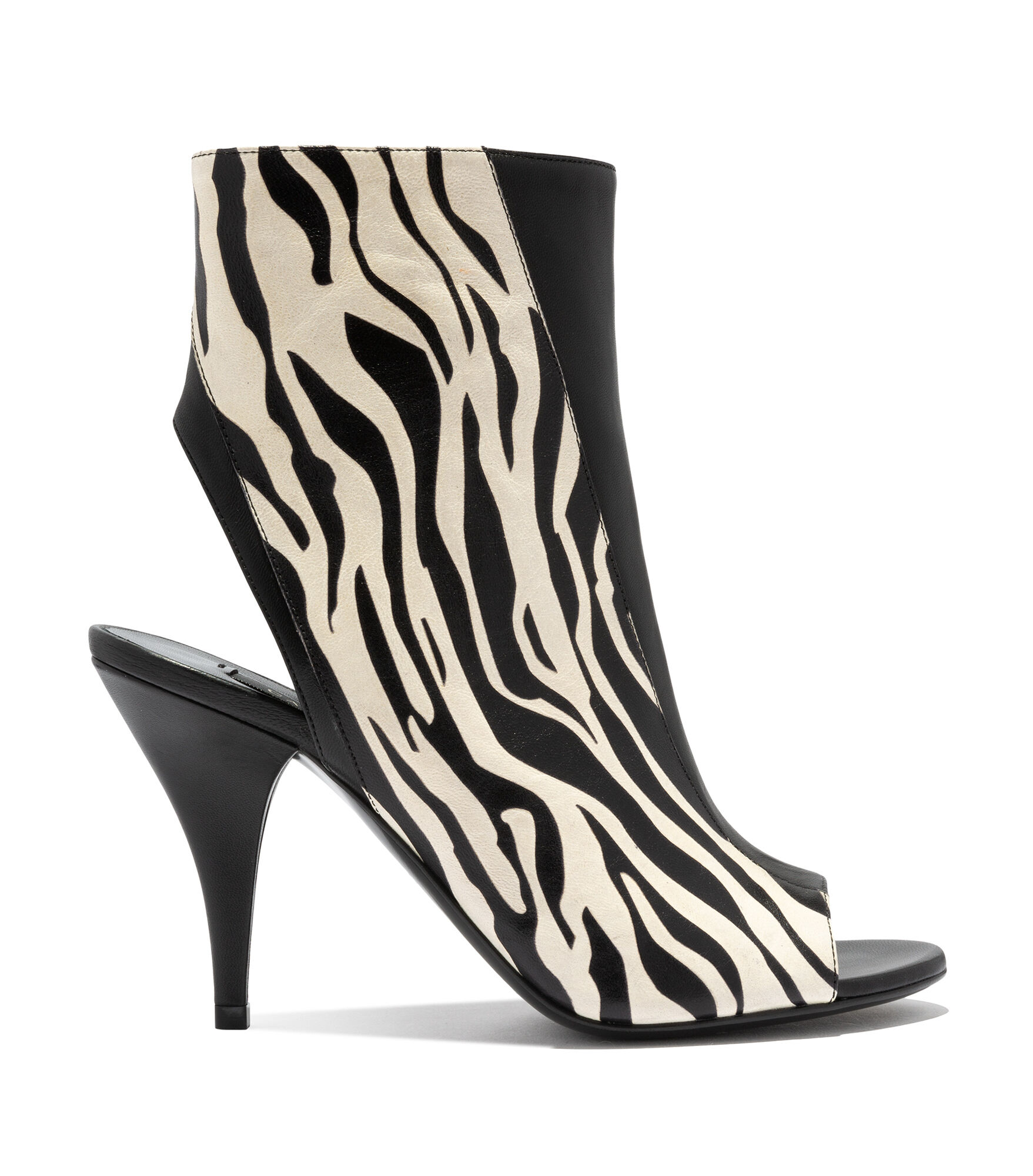 Casadei Ankle Boots - Delfina Black and White Zebra Effect Printed Leather