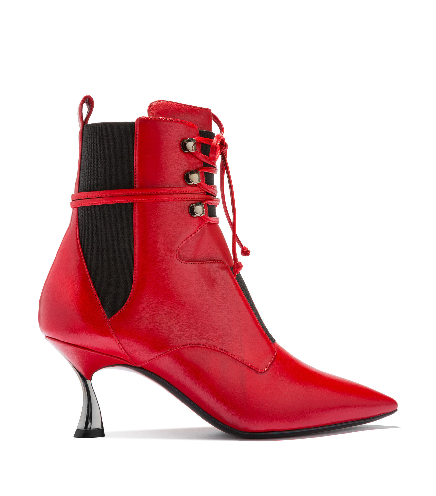 Casadei Ankle Boots - Dolores Chili Pepper Calf Leather