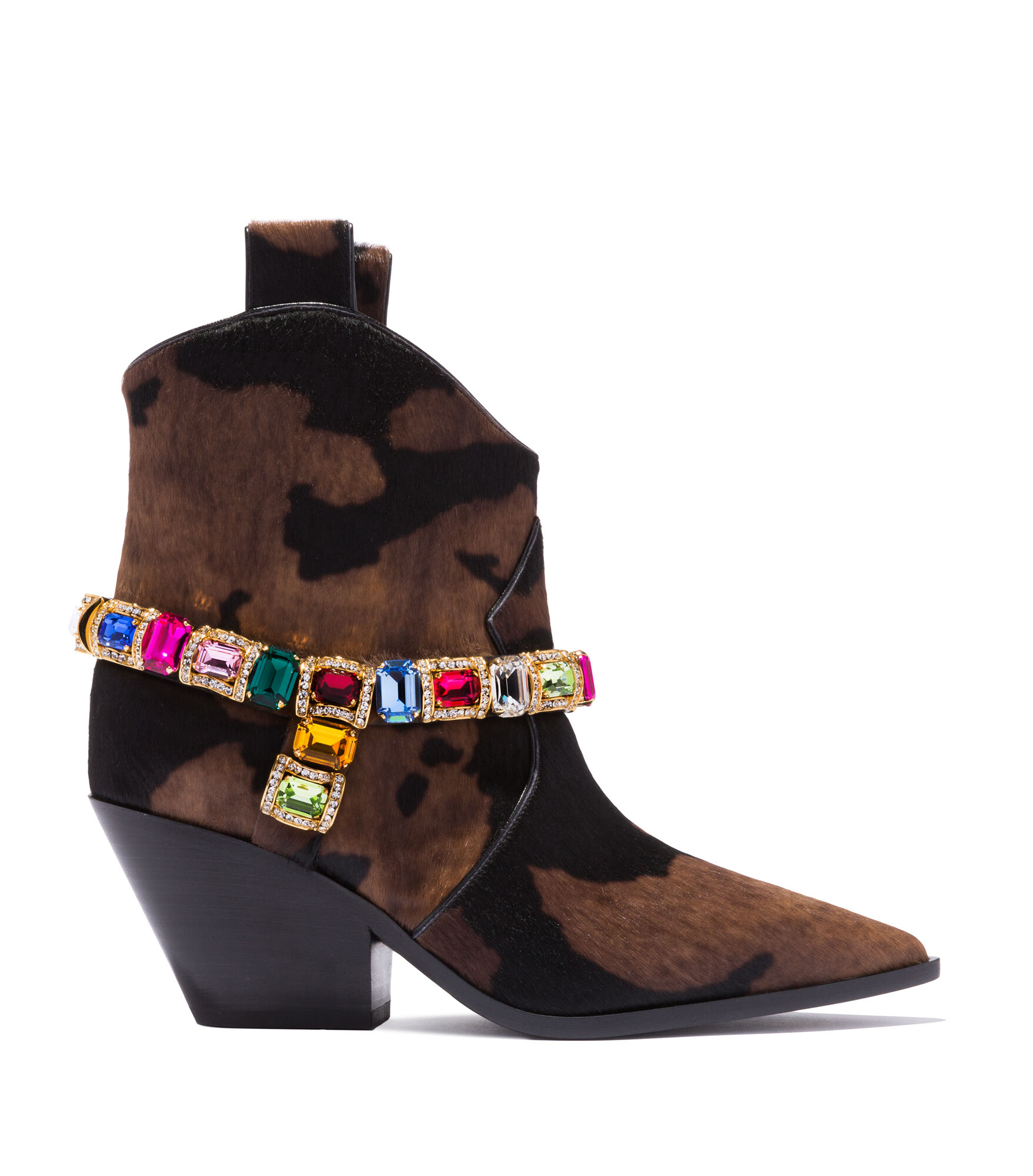 Casadei Ankle Boots - Rodeo Choco and Black Faux Pony Hair