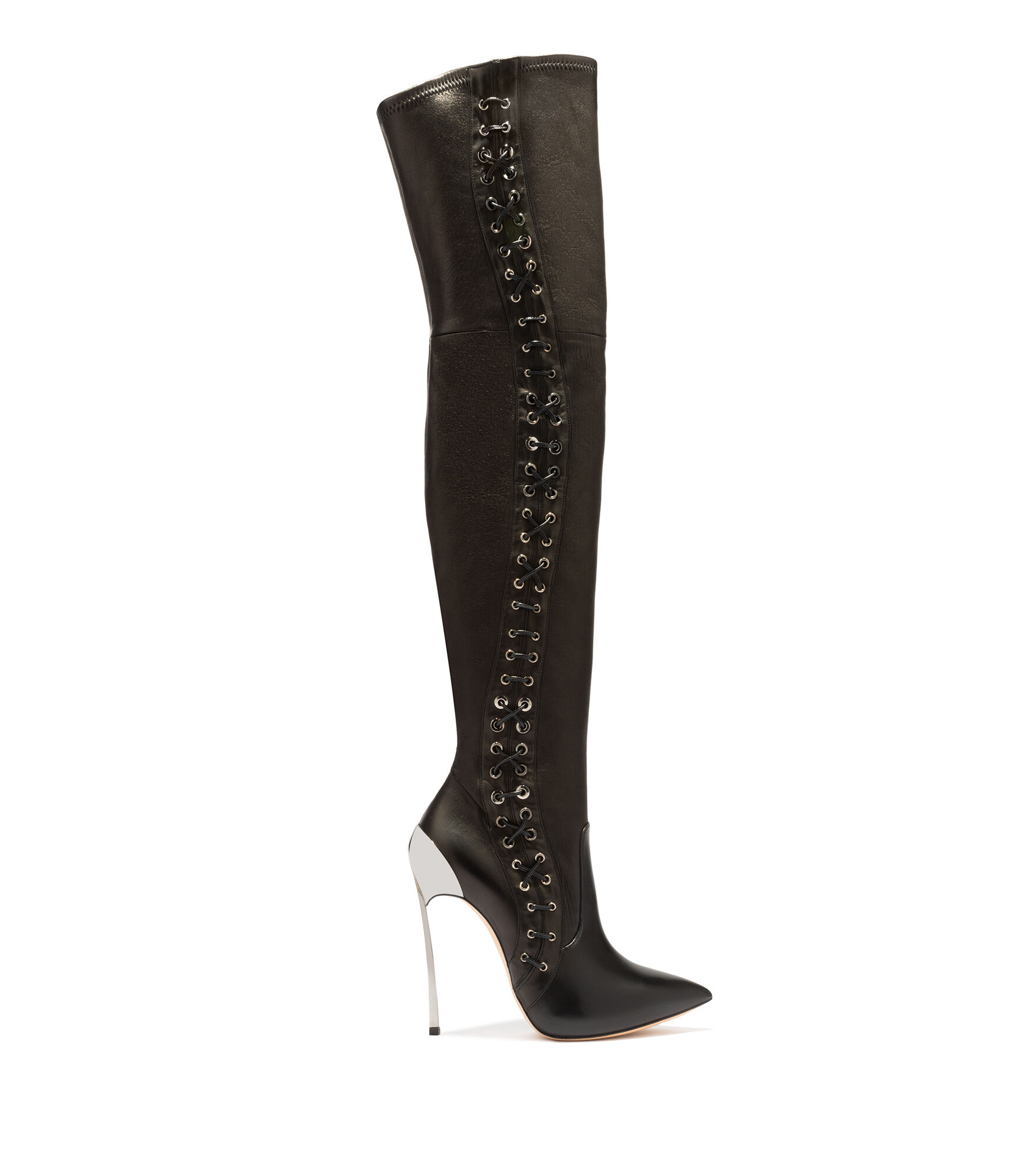 Casadei High Boots - Techno Blade Black Soft Leather