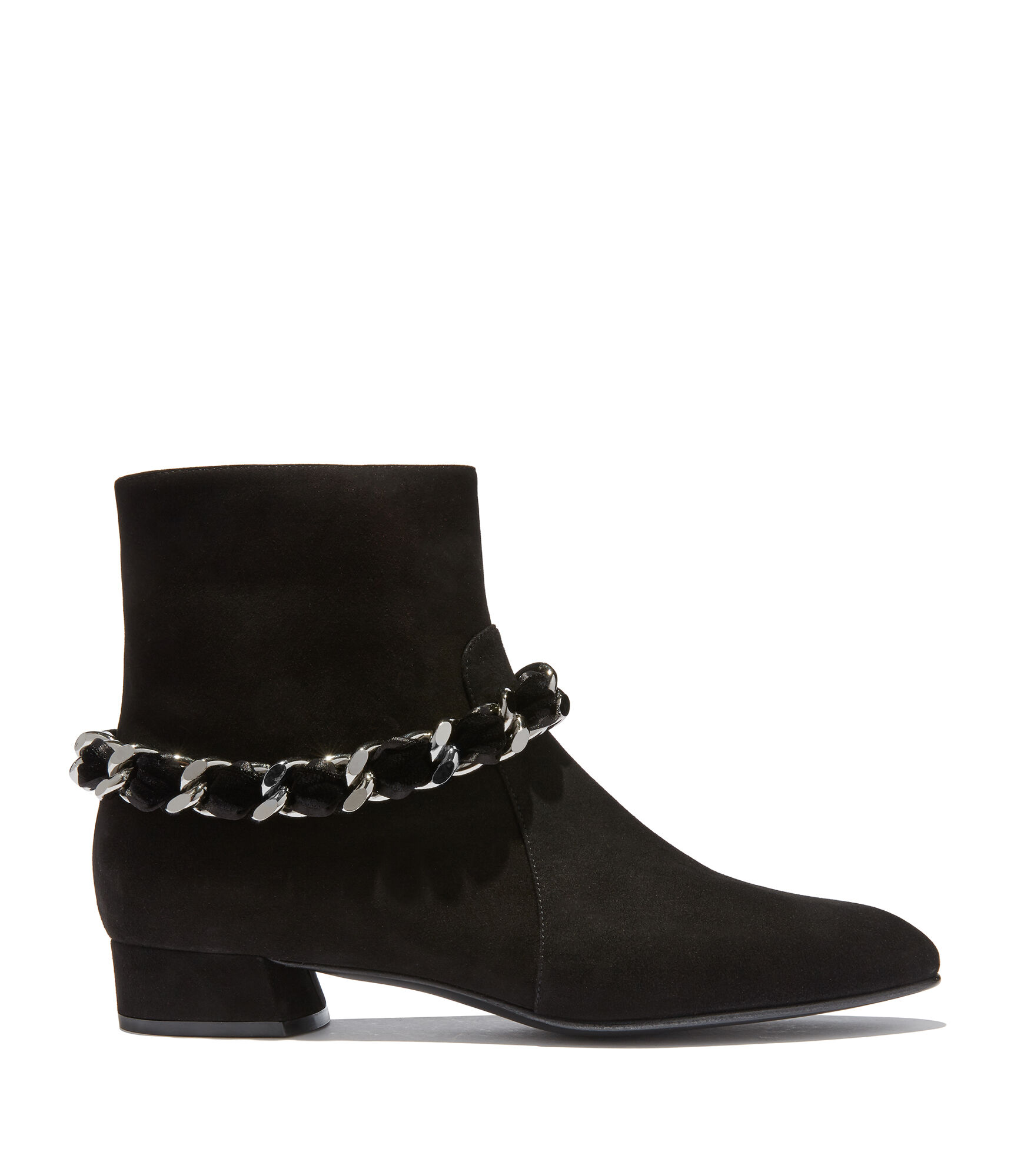 Casadei Ankle Boots - Ilary Black Suede