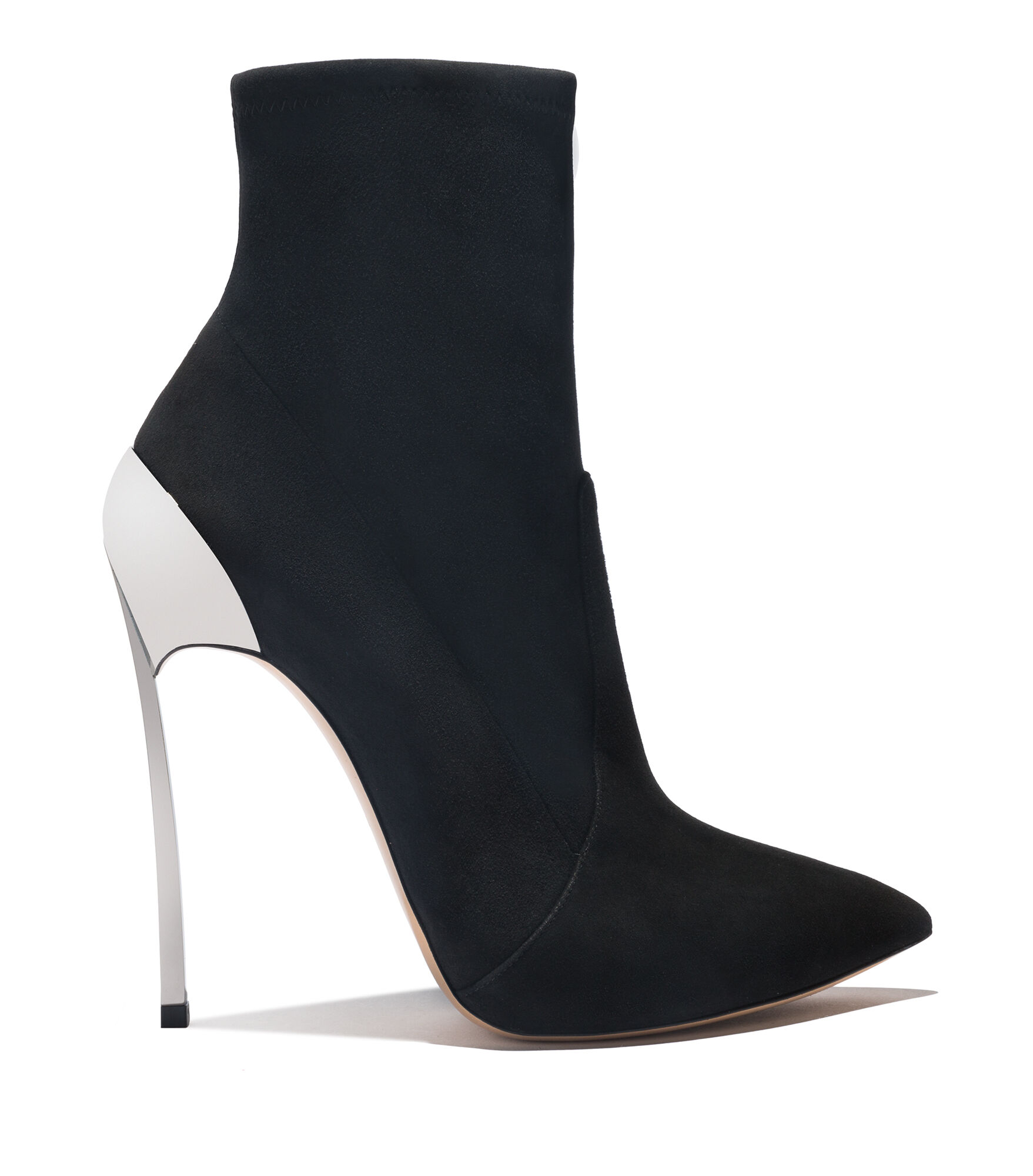 Casadei Ankle Boots - Techno Blade Black Suede