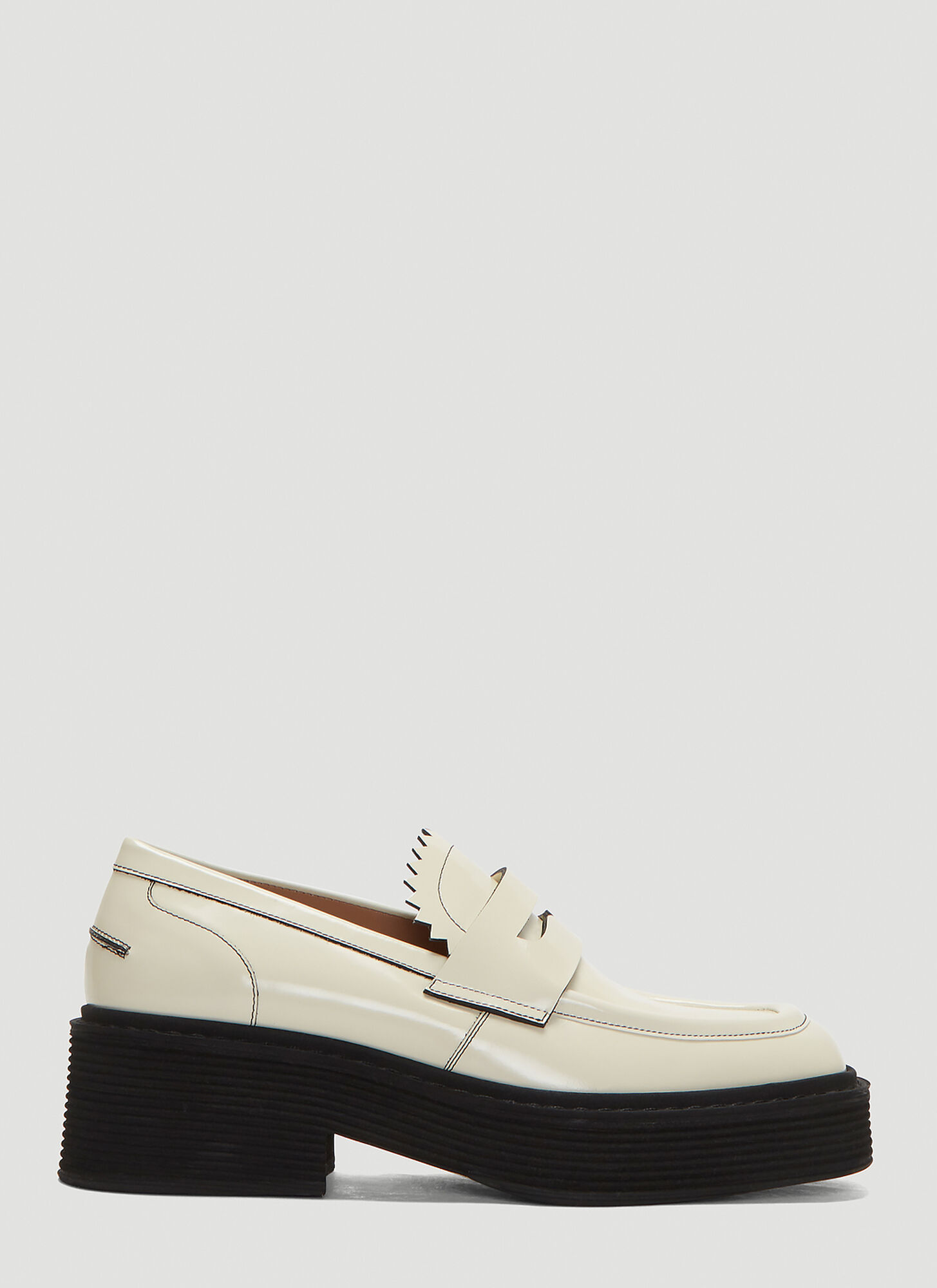 Marni Platform Loafers in White