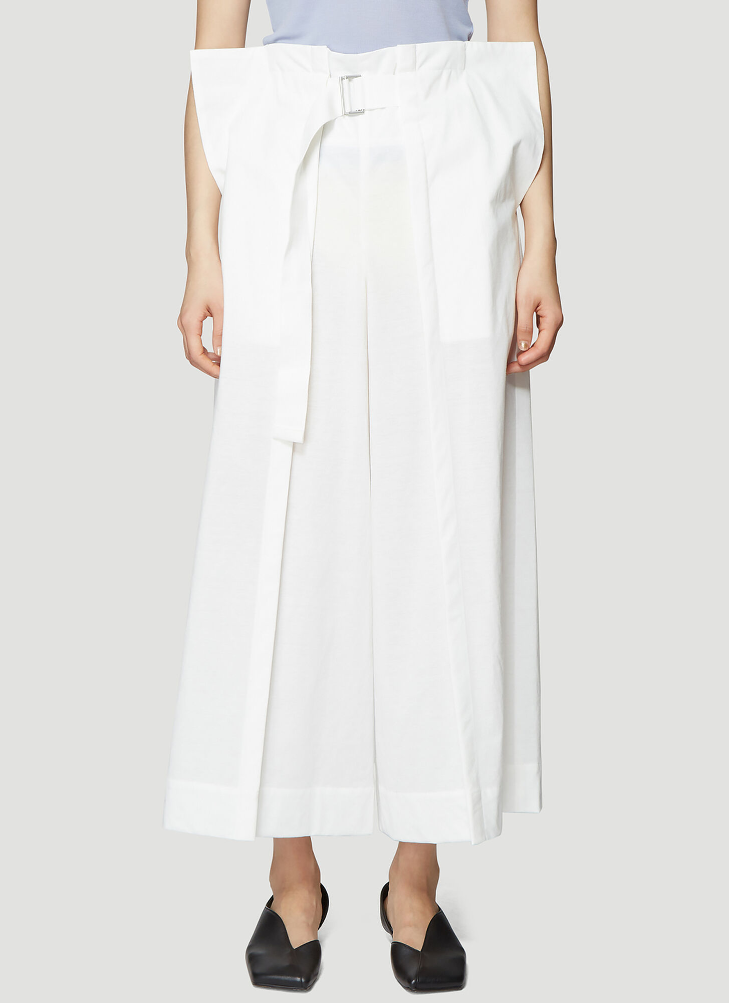 Issey Miyake Fold Pleat Pants in White