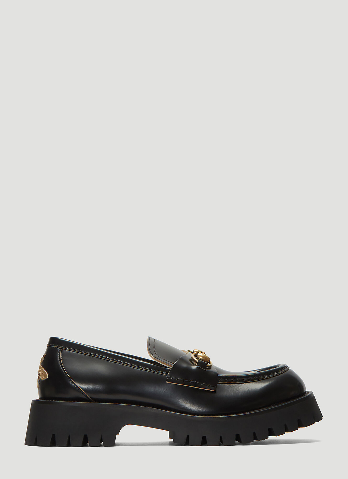 Photo of Gucci Chunky Lug Sole Loafers in Black - Gucci Flats