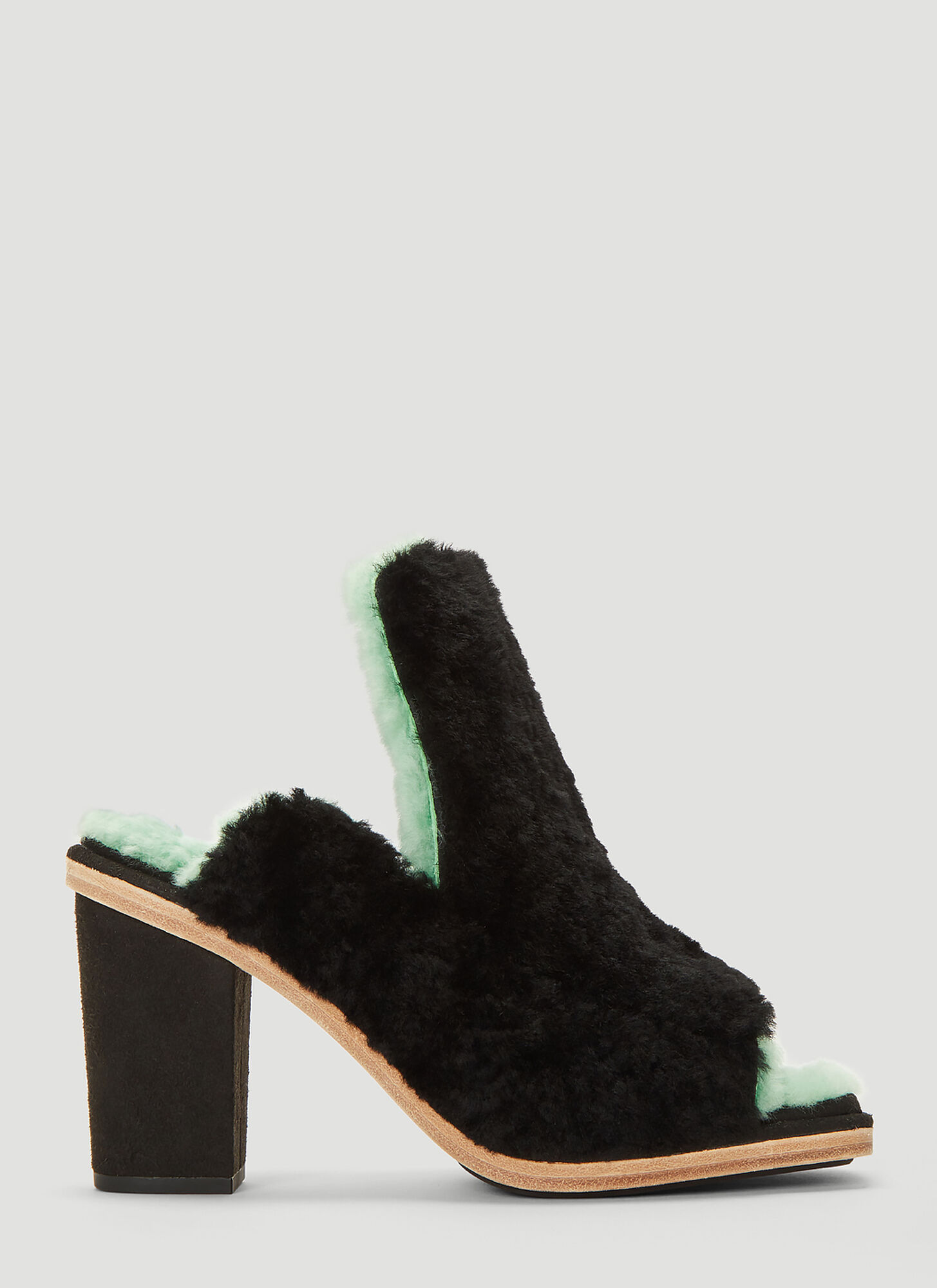 Eckhaus Latta X Ugg Open Toe Mules in Black