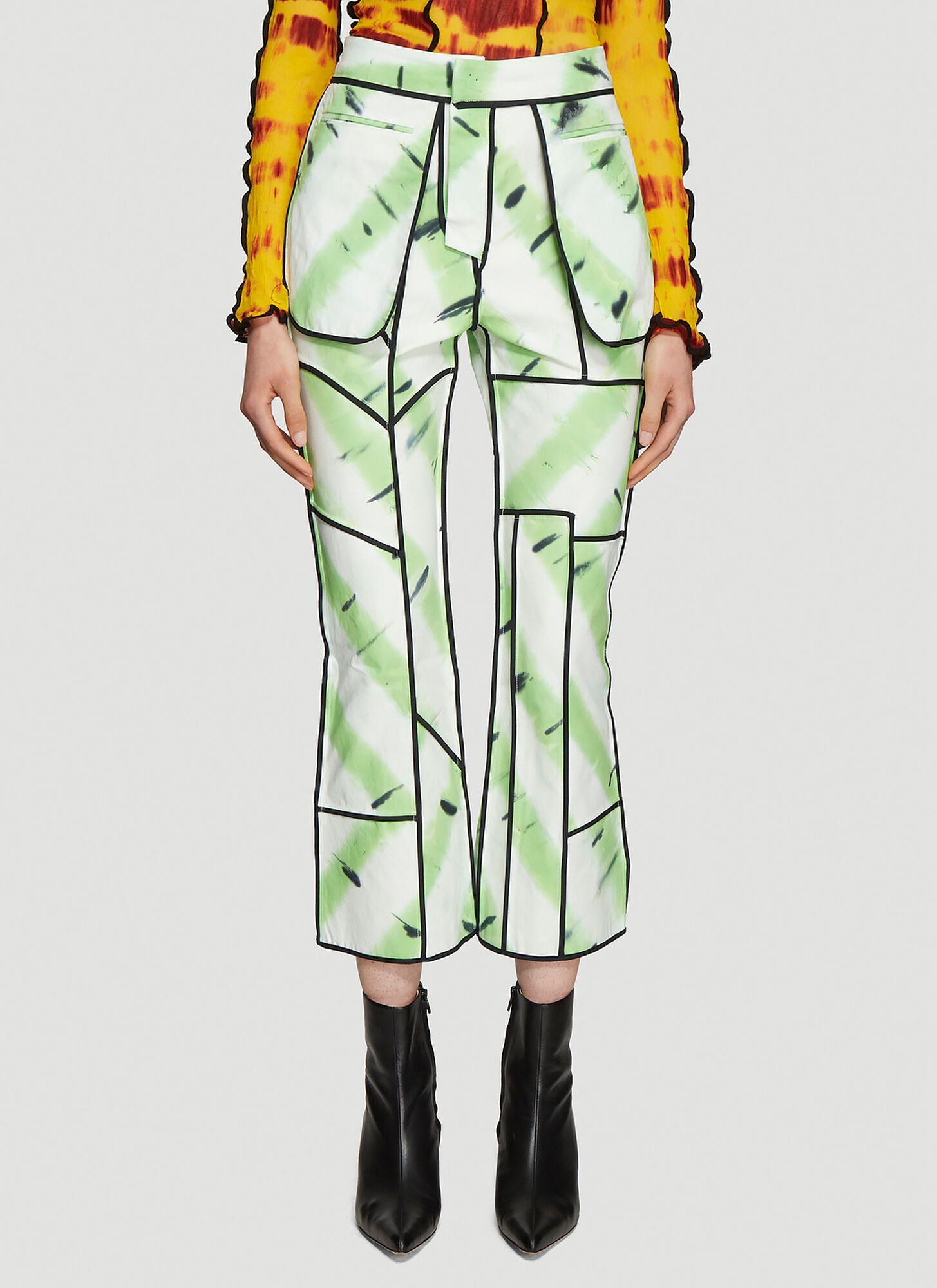 ASAI Jungle Fever Hand Painted Jeans in White