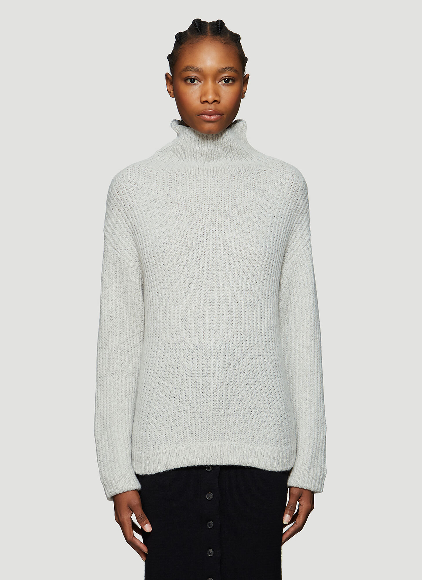 Our Legacy Turtleneck Knitted Sweater in Grey