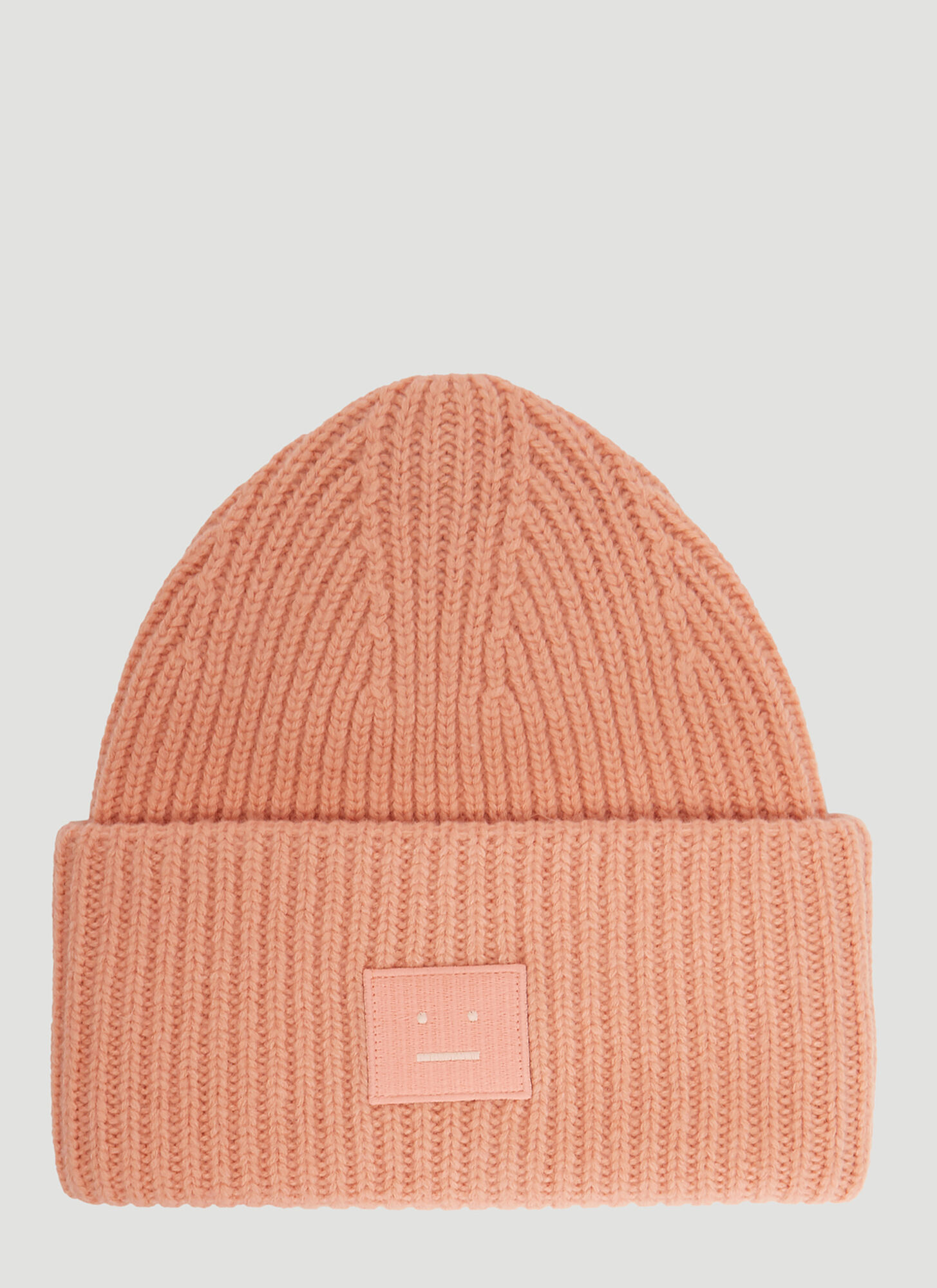Acne Studios Pansy N Face Knit Hat in Pink