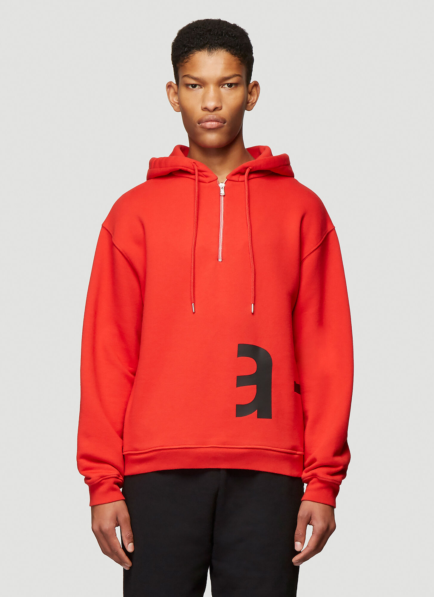 Artica-Arbox Logo Print Hooded Sweatshirt in Red size S
