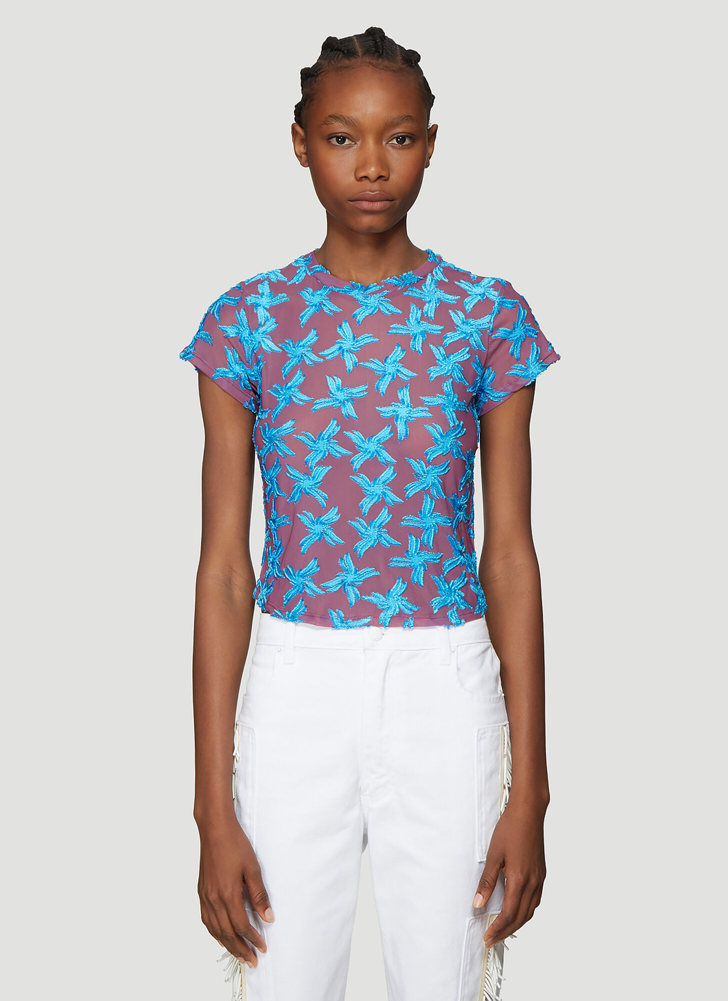 Eckhaus Latta Shrunk T-Shirt in Blue