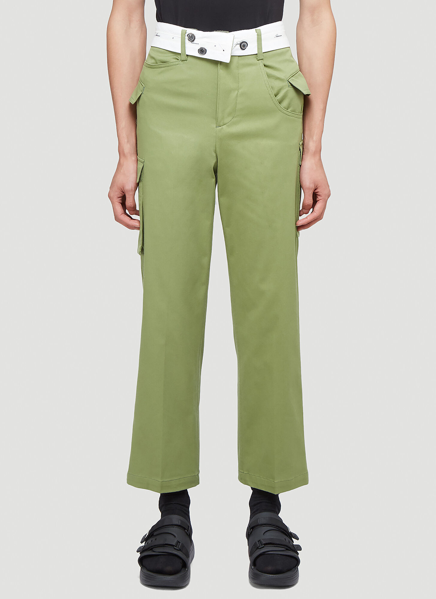 Ader Error Asymmetric Pants in Green
