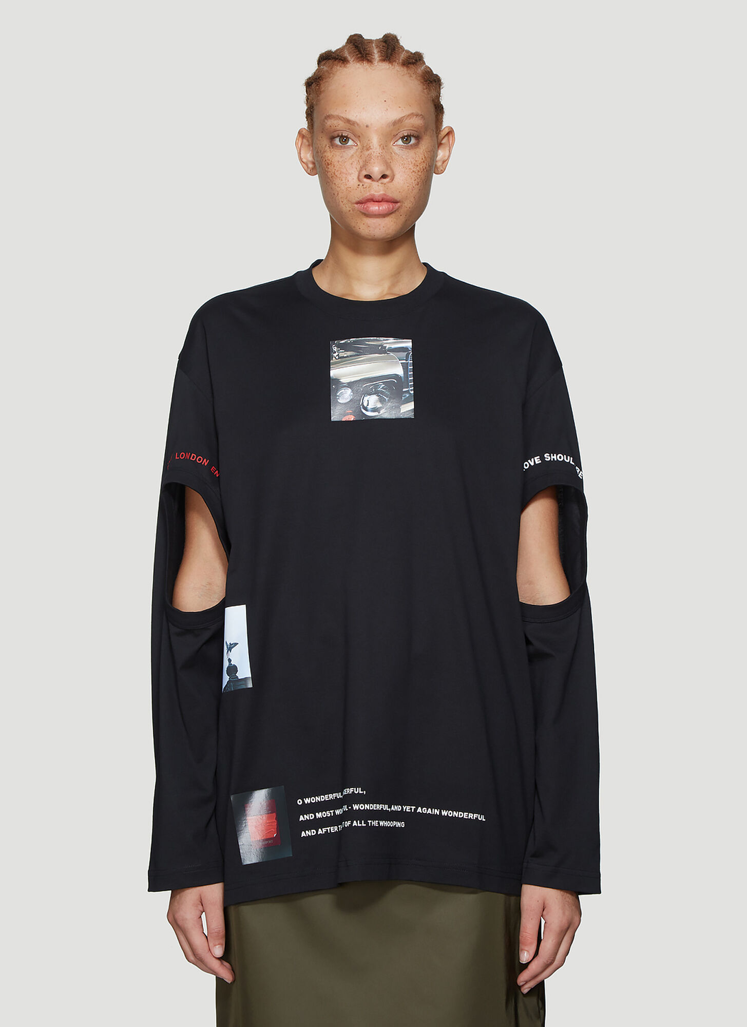 Burberry Ashbury Long Sleeve T-Shirt in Black