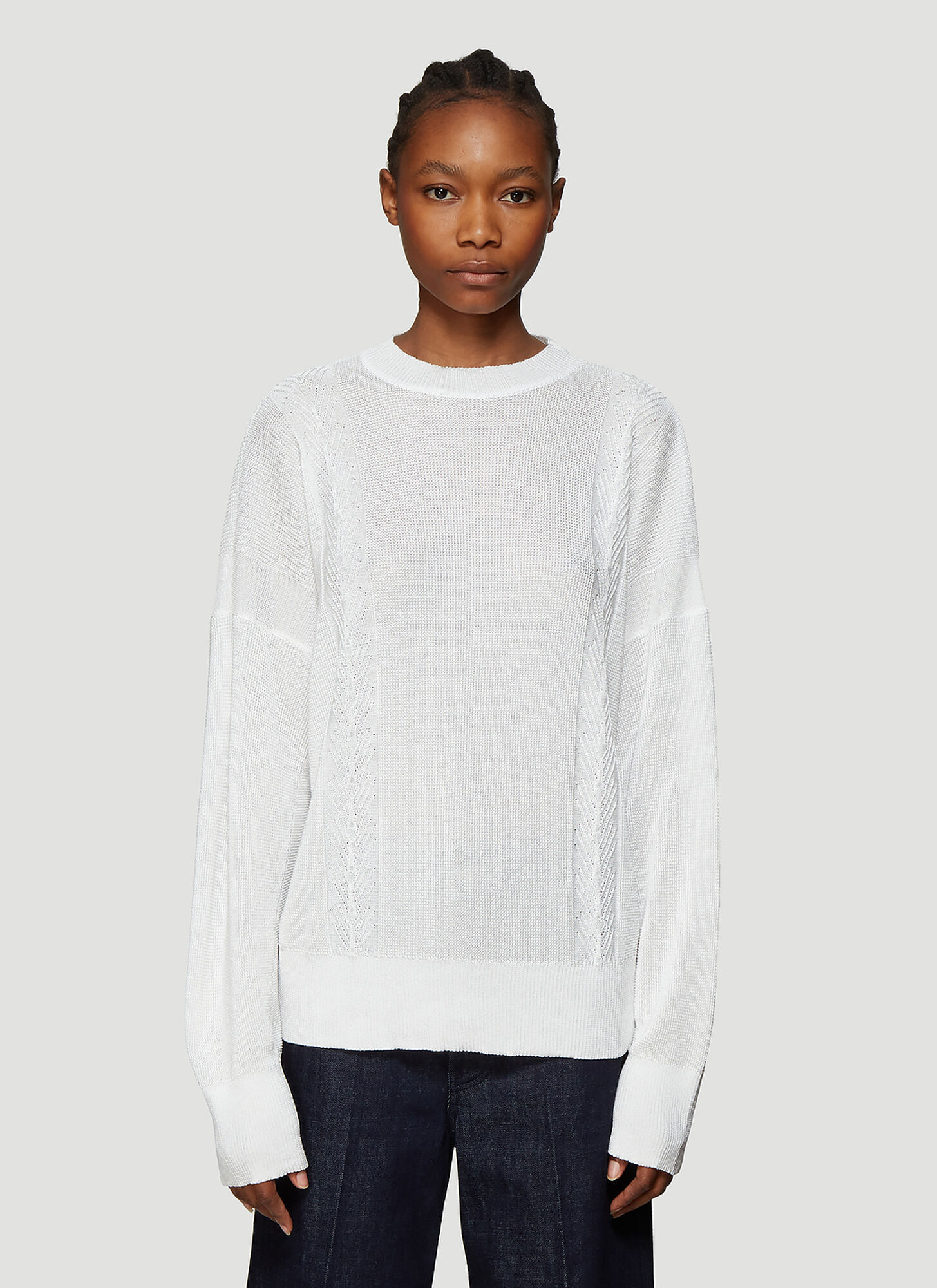 Our Legacy Cable Knit Sweater in White