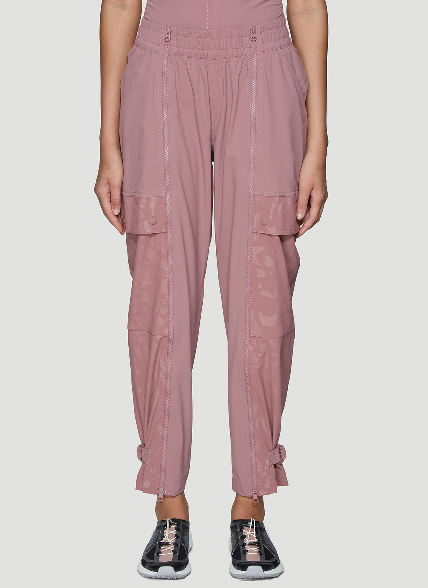 adidas by Stella McCartney Zip-Through Performance Track Pants in Pink