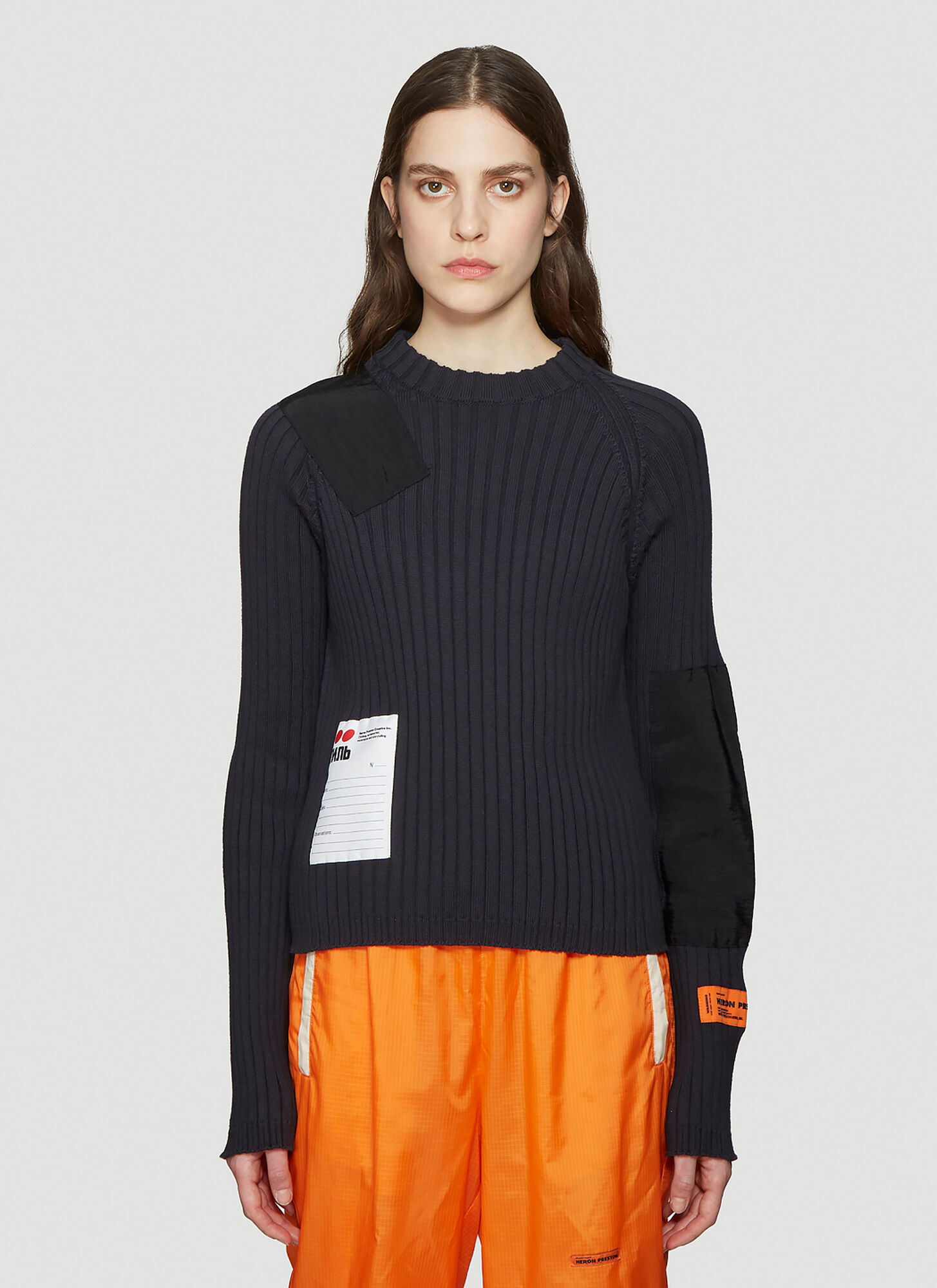 Heron Preston Ribbed Sweater in Black