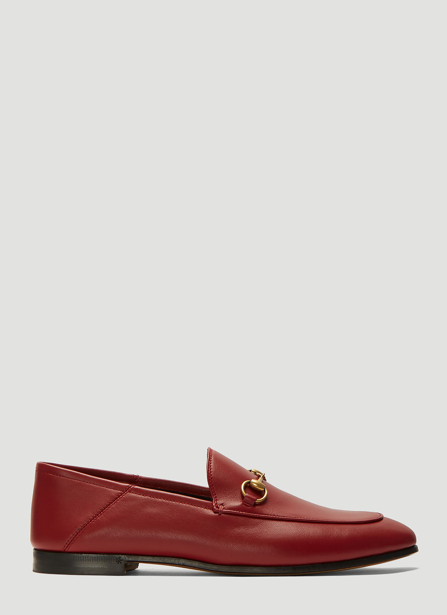 Gucci Brixton Leather Loafers in Red