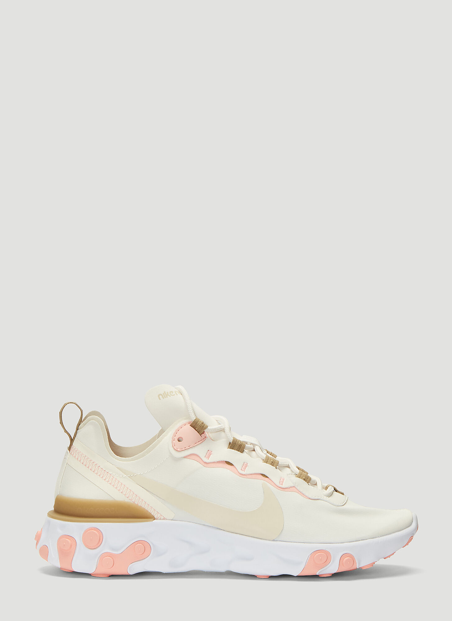 Nike React Element 55 Sneakers in Beige
