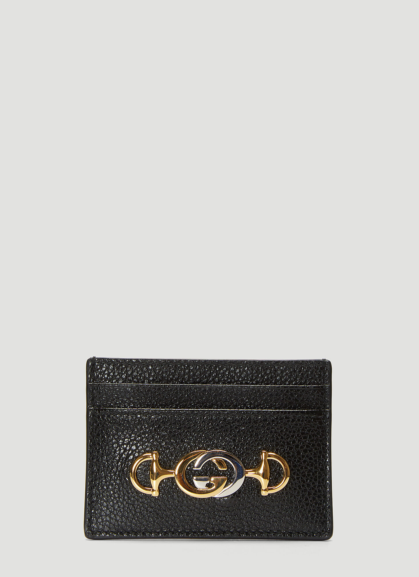 Gucci Interlocking G Card Case in Black