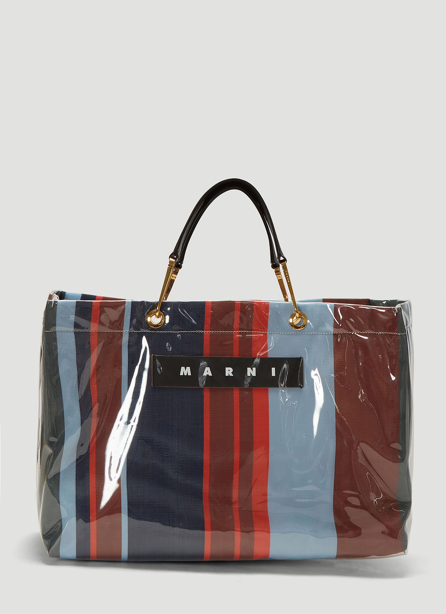 Marni Glossy Grip Large Tote Bag in Blue
